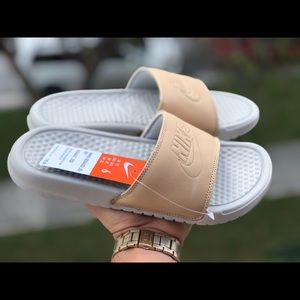 6e12eb1ed Nike Shoes - Women Nike Benassi JDI  Vachetta Tan  Slides